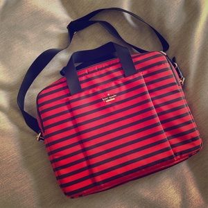 Red and Navy Striped Kate Spade Commuter Bag
